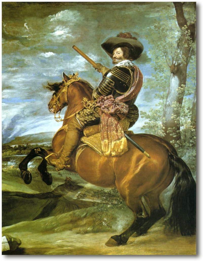Cuadro Decoratt: Retrato del Conde Duque de Olivares - Diego Velazquez 48x63cm. Cuadro de impresión directa.