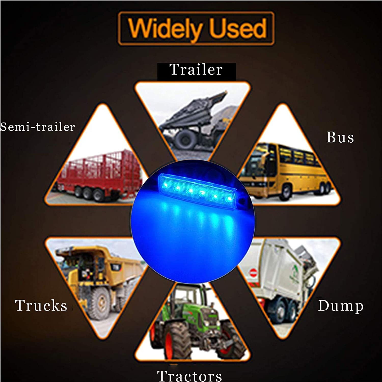 Cab,RV,SUV HGV,Offroad NBWDY 10 Pcs Blue Led Rock Lights,Wheel Well Lights,3.8 Sealed Led Underglow Kit for Jeep,Snowmobile,Truck,Golf Cart,Lorry,RV,Camper