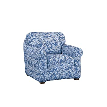 Collections Etc Paisley Stretch Knit Slipcover, Blue, Chair