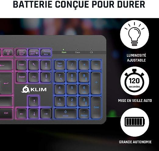KLIM™ Light V2 Teclado Inalámbrico Gaming FR + Teclado Gaming ...