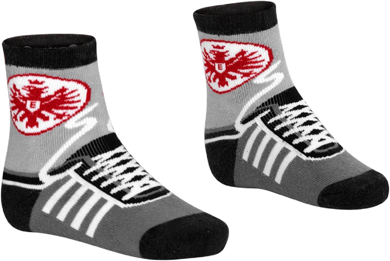 Kindersocke Sneaker Gr/ö/ße 25-28 1 Paar mit aufgedruckten Schn/ürsenkeln Eintracht Frankfurt