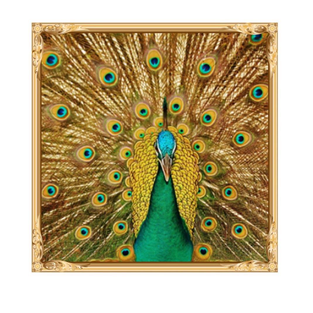 Peacock❤️ 5D Diamond Painting Staron Full Drill Animals DIY Diamond Embroidery Painting Cross Stitch Kit 5D Diamond Embroidery Rhinestone Painting DIY Art Craft Home Decor