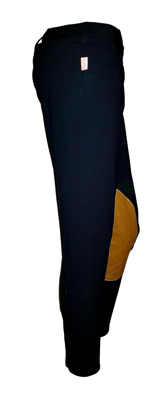 Tailored Sportsman LadiesトロフィーハンターローライズフロントZipブラック&ブルー/タン(26r) 28l   B07CV13QGH