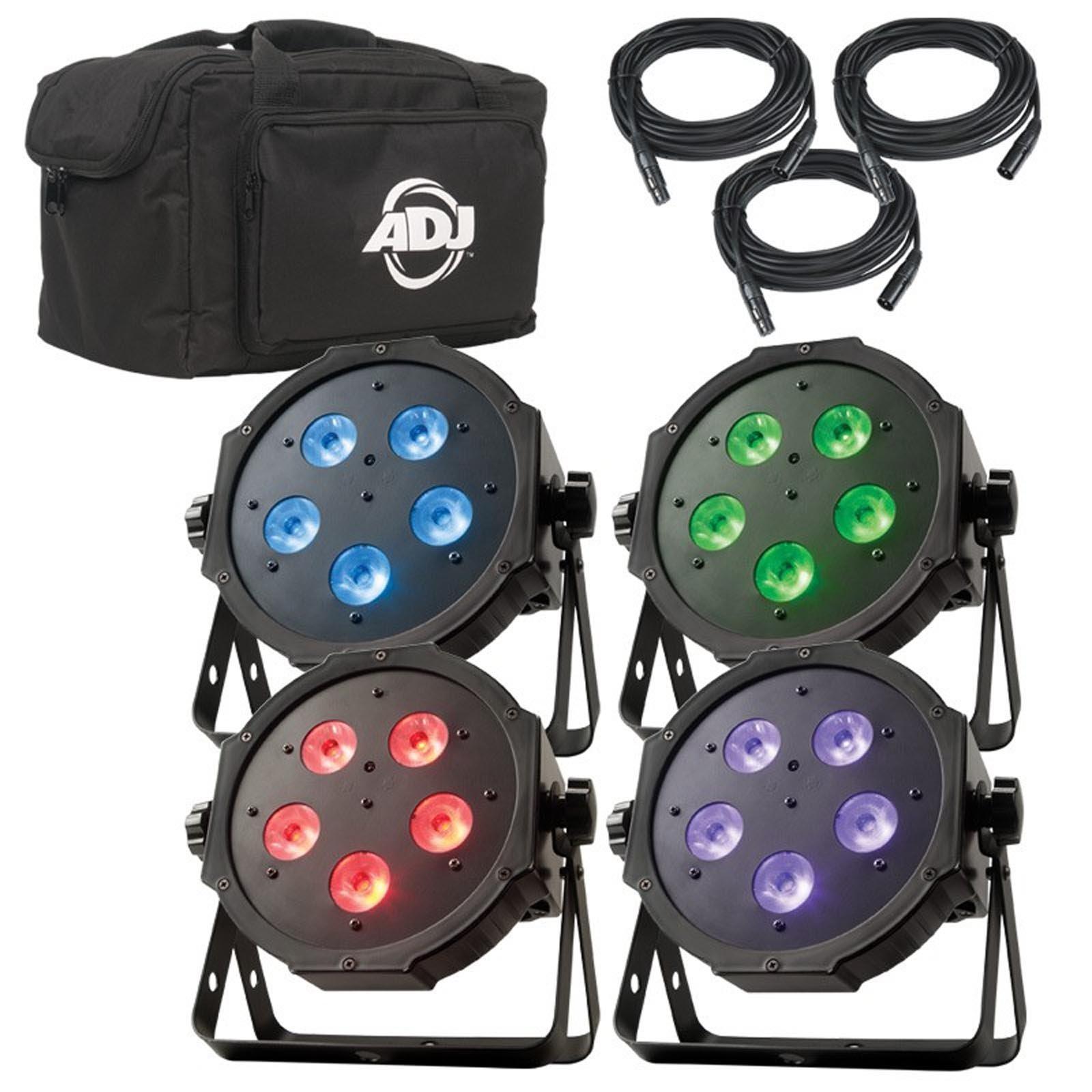 NEW! AMERICAN DJ Mega Flat TRI Pak Plus RGB + UV LED Mega Tripar Profile System