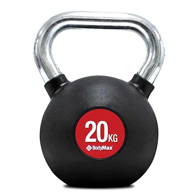 1 opinioni per Bodymax da uomo kettlebell-silver manico cromato, 8K, Black, 32 kg