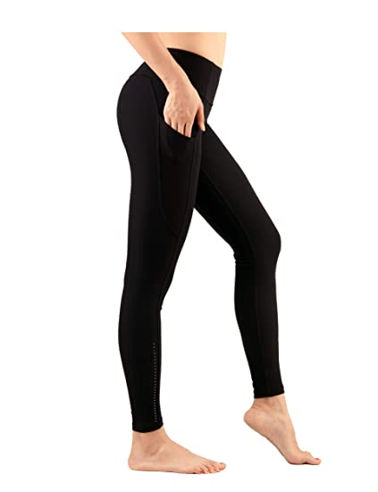 e5cb8a9502ee8 Amazon.com: DOVPOD High Waist Yoga Pants with Pockets Plus Size Workout  Running Yoga Leggings Capris for Women: Clothing
