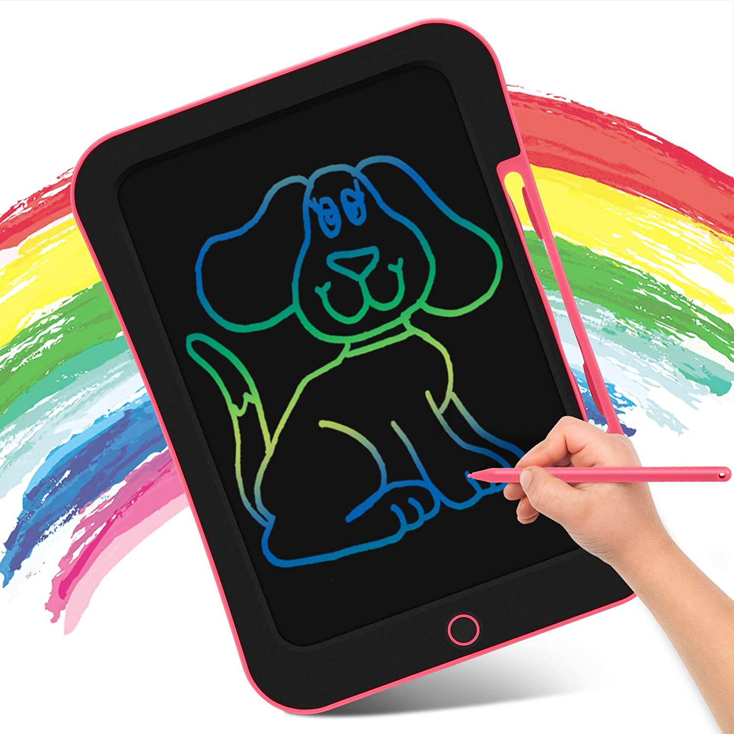 INKPOT LCD Drawing Tablet 10.5 Inch, Colorful Doodle Board Drawing Tablet for Kids,Erasable Reusable Writing Drawing Pad,Learning Educational Toy Gift for Children 3 4 5 6 7 8 9: Toys & Games