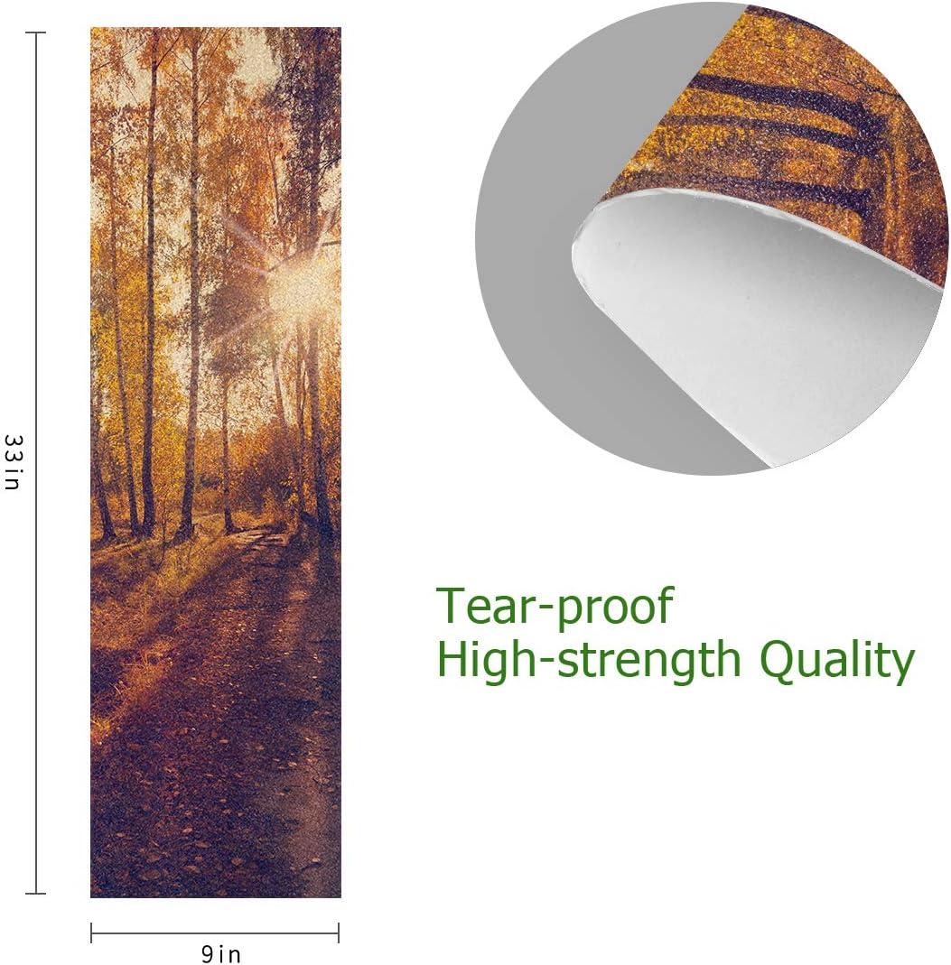 henfar 9 x 33 Skateboard Grip Tape Sheet Free Skateboard Griptape Autumn Forest