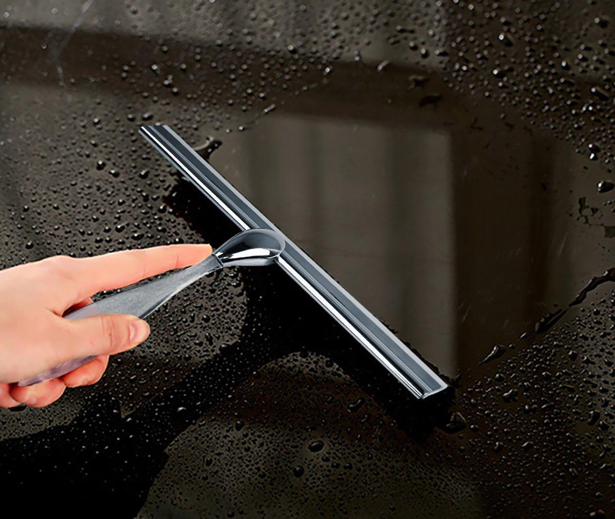 ... con ventosa gancho de acero inoxidable puerta de cristal de Coche Parabrisas escobilla de limpiaparabrisas para azulejos cuadro: Amazon.es: Hogar