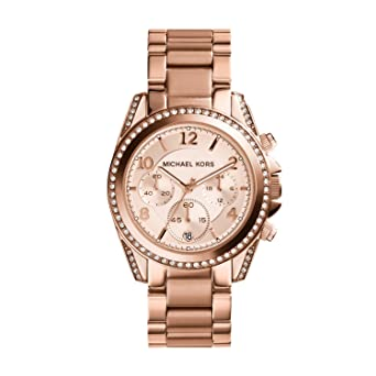 ffeabdd6d65a Amazon.com  Michael Kors Women s Blair Rose Gold-Tone Watch MK5263 ...