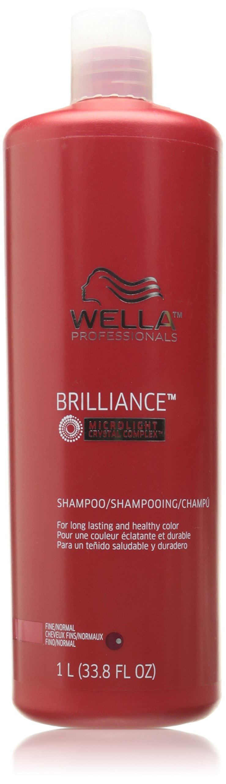 Wella Professionals Brilliance Shampoo for Fine to Normal Colored Hair - 33.8 oz/liter