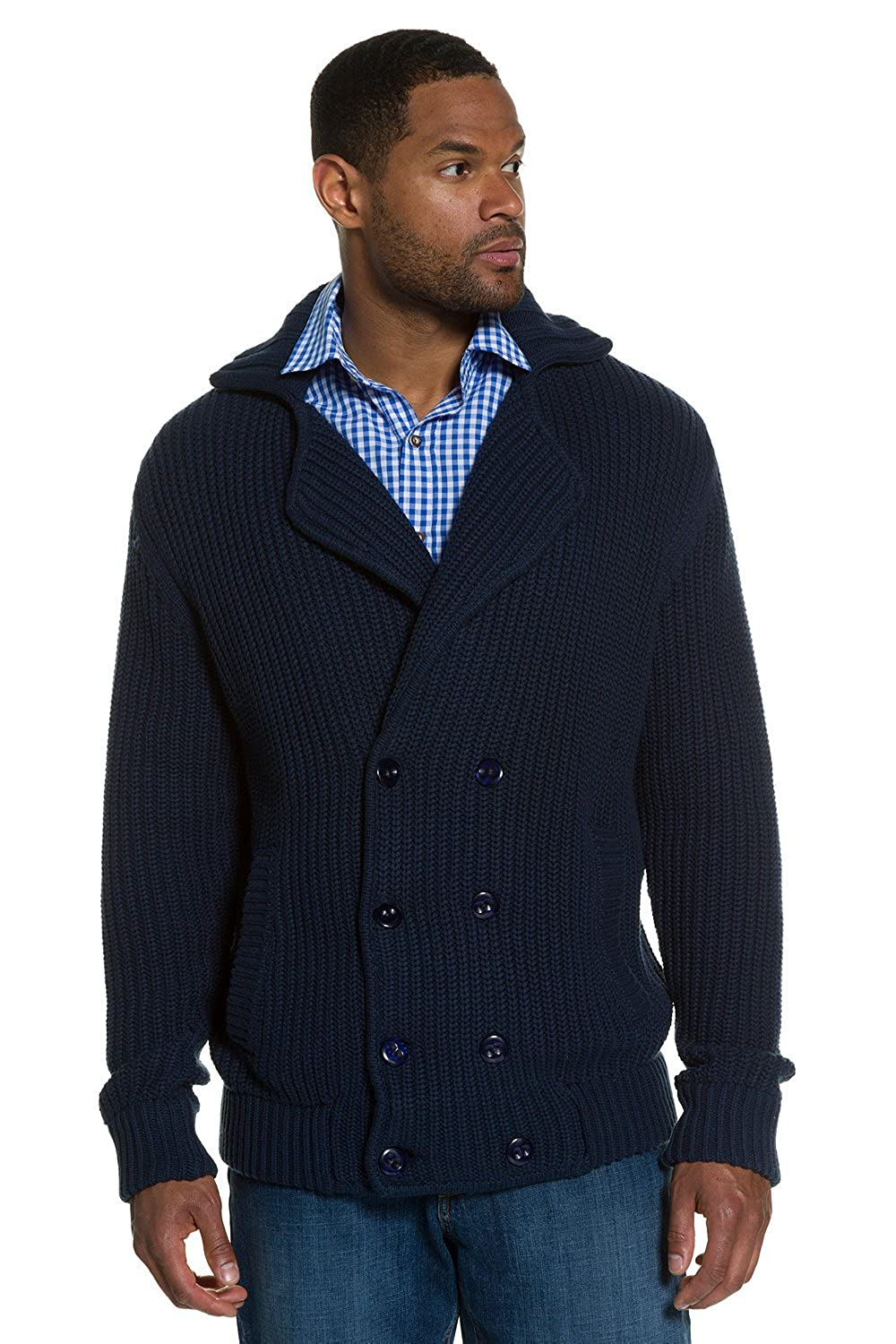 JP 1880 Men's Big & Tall Textured Sweater Blazer 705701