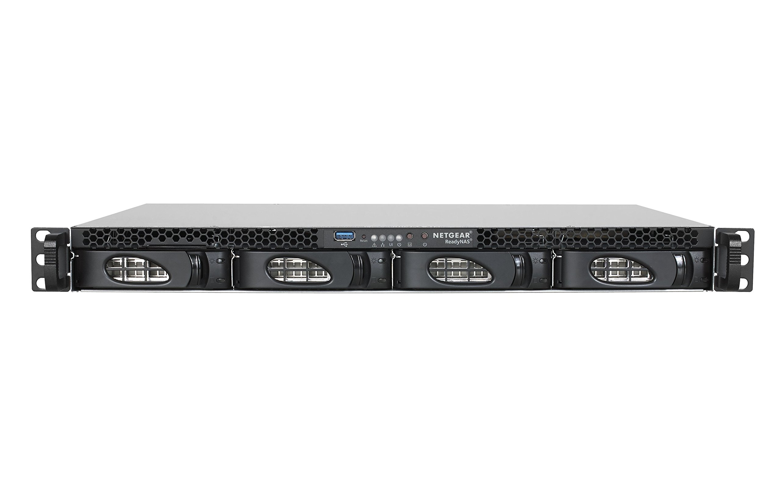 NETGEAR ReadyNAS 2304, Rackmount 1U 4-bay, Dual Gigabit Ethernet, Diskless (RR230400) 2 1U 4-bay compact form factor for branch offices and small businesses Make a leap forward in data storage with a professional grade NAS, designed in-house by the market leader in SMB networking Easy monitoring and maintenance with NETGEAR Insight app