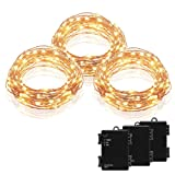 Amazon Price History for:Kohree 3 Pack Micro 30 LEDs Christmas String Lights Battery Operated on 10 Ft Long Ultra Thin String Copper Wire For Seasonal Decorative Christmas, Holiday, Wedding, Parties With Timer Battery Box