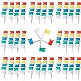 Anpro 200 Markierungsfahnen Markierfähnchen Markierungsnadeln für Weltkarte Pinnwand, Bunt