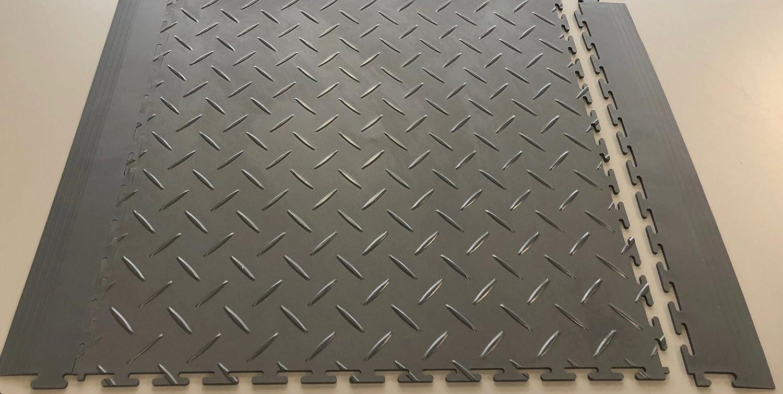 Supreme Garage Tile Mats Inc Edging (8 pieces per pack) (Black) Mats Inc.