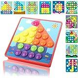 IDOOT パズル 幼児 子供おもちゃ ブロック 形合わせ 知育 玩具 女の子 男の子 46ピース 幾何認知 色彩認識 脳力開発 創造力 想像力 誕生日 贈り物