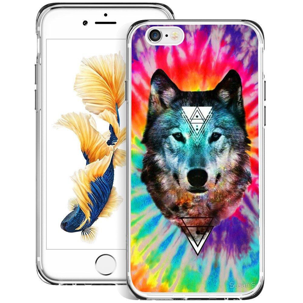 amazon com wolf iphone 6s plus 6 plus case customized design antiwolf iphone 6s plus 6 plus case customized design anti scratch flexible shock absorption soft tpu protective phone case for iphone 6s plus 6 plus clear