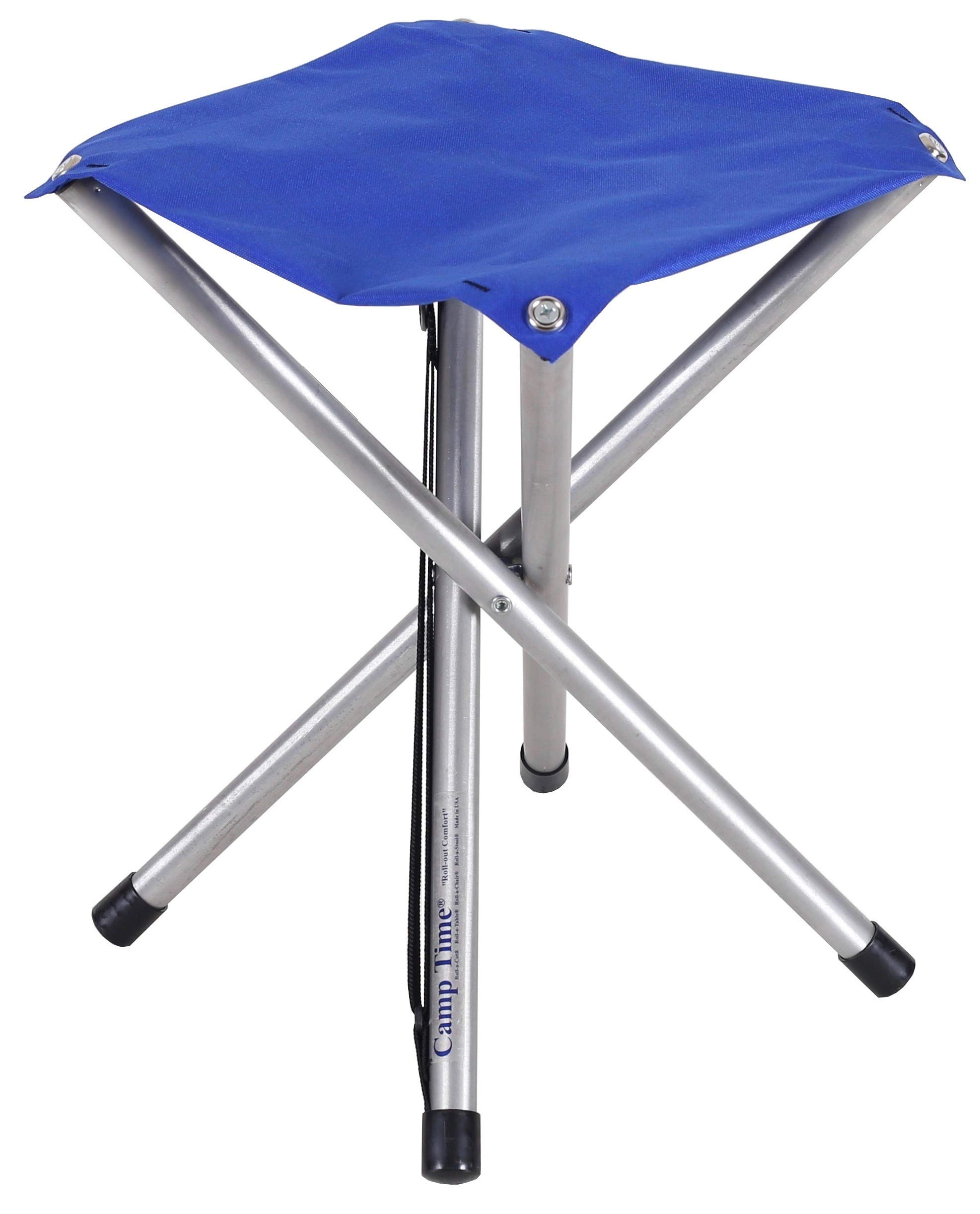 Camp Time Jumbo Stool, Chair height Sitting Comfort, 300 pound capacity, Elegant folding design, 1.6 pounds with shoulder strap, USA Made by Camp Time