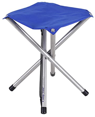 Camp Time Jumbo Stool, Chair height Sitting Comfort, 300 pound capacity, Elegant folding design, 1.6 pounds with shoulder strap, USA Made