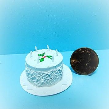 Amazon Com Dollhouse Happy Birthday Cake Candles Kl0525