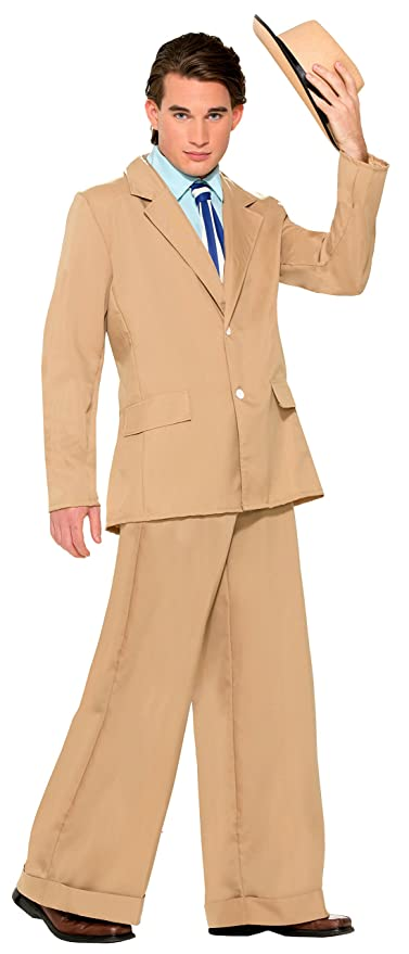 1920s Men's Costumes: Gatsby, Gangster, Peaky Blinders, Mobster, Mafia Mens Roaring 20s Gold Coast Gentleman Costume Suit $43.11 AT vintagedancer.com