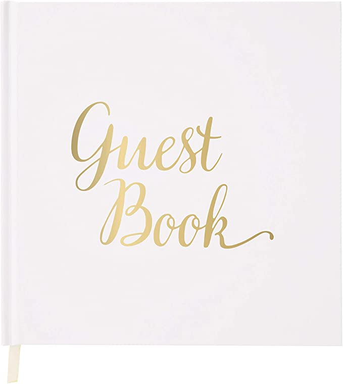 Hardcover Wedding Guest Book #18 Gold Polka Dots Wedding Guestbook Wedding Guest Books Custom Guest Book Personalized Guestbooks