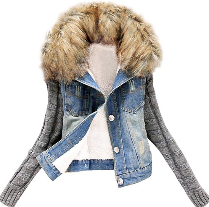 Invierno vaqueros rotos elasticos mujer Abrigos con capucha Manga larga de tejer invierno plumas fiesta parka