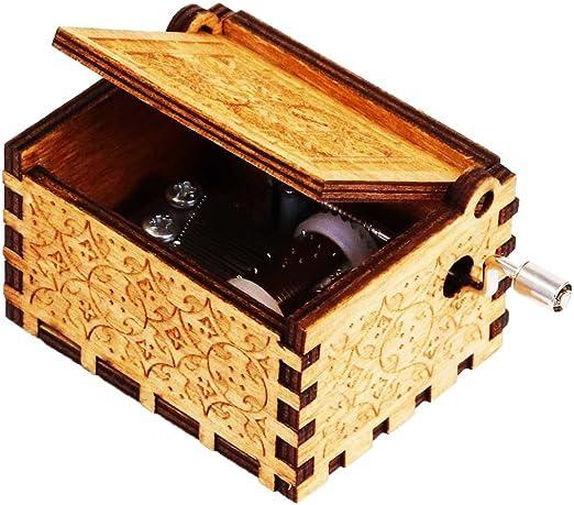 TokmaIi® harry Hedwig tema caja de música de la mano grabado cajas ...
