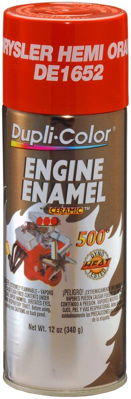 Dupli-Color DE1652-6 PK Chrysler Hemi Orange Engine Enamel with Ceramic - 12 oz. Aerosol, (Case of 6)