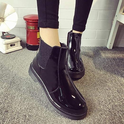 ZODOF Botas de Mujer Zapatos con Cordones de Punta Redonda para Mujer Botas  Medias de Cuero Plataforma Navidad Antideslizante  Amazon.es  Ropa y  accesorios 4b10661acb8e