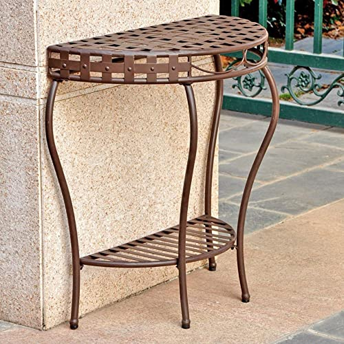 Santa Fe 2-Tier Iron Patio Console Table