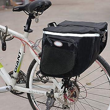 MOLRE-YAN Mochila impermeable para bicicleta de montaña, carretera, trasera, asiento trasero, maletero, doble alforja, negro: Amazon.es: Deportes y aire libre
