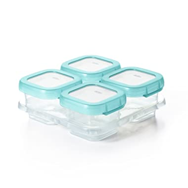 OXO Tot Baby Blocks Food Storage Containers, Aqua, 4 oz