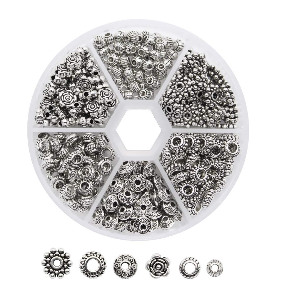 Dreamtop 1 Box 300 Pcs Tibetan Silver Metal Spacer Beads For Jewelry Making Finding 4336828188