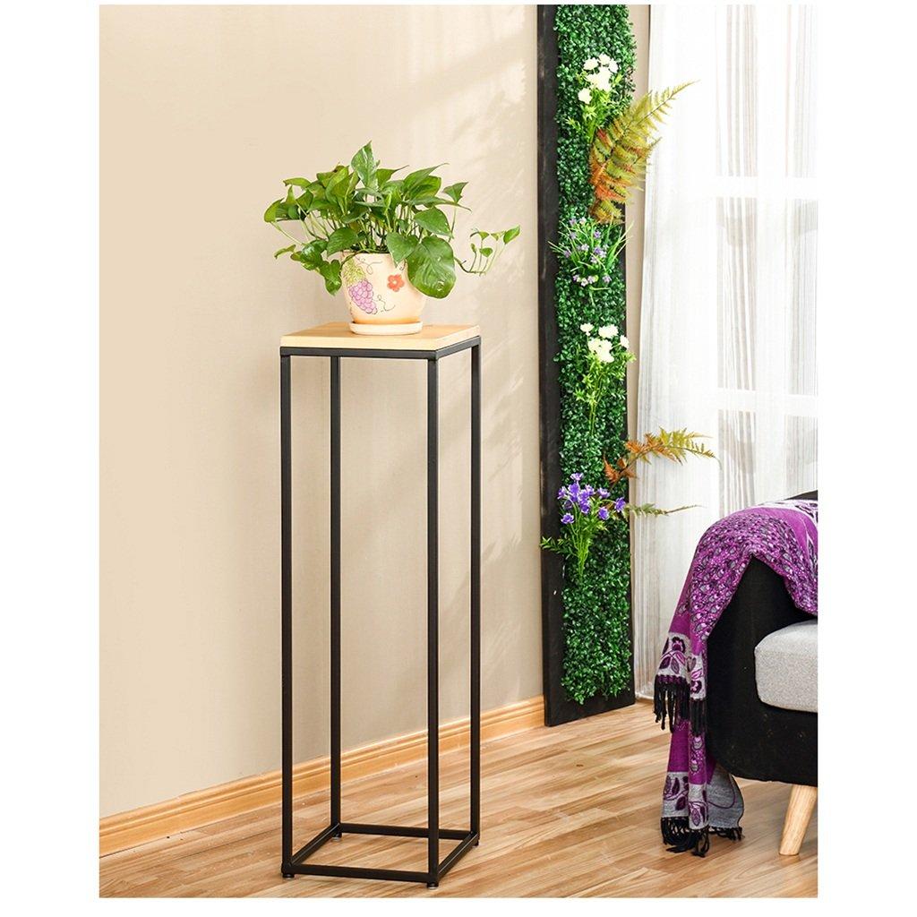 Fioriera per fiori Stand Flower stand in ferro e legno Simple Modern Fashion Living Room Arte e bellezza (dimensioni   3030100)