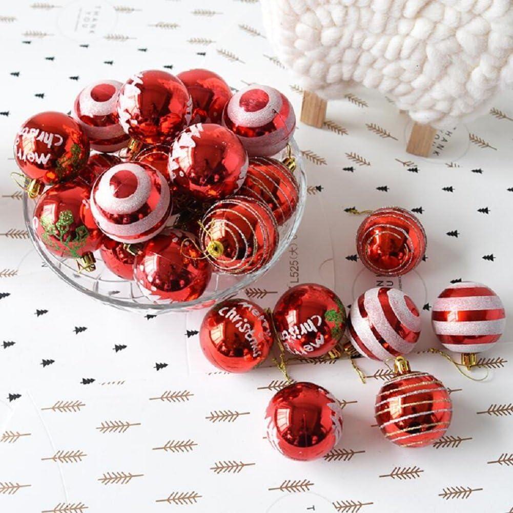 Partito Decorazione 24 // pacchetto, pallina verniciata, 2.36 pollici 60mm Nozze Venkaite Albero di Natale Palla Decorazioni per Alberi di Natale Blu Palla di Natale Ornamenti