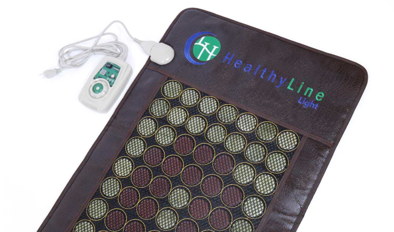 HealthyLine Far Infrared Heating Mat 72''x24'' Relieves Sore Muscles, Joints, Arthritis Natural Jade & Tourmaline with Negative Ions InfraMat Pro Most Flexible Model-Easy to roll-up(Light & Firm) by HealthyLine (Image #2)