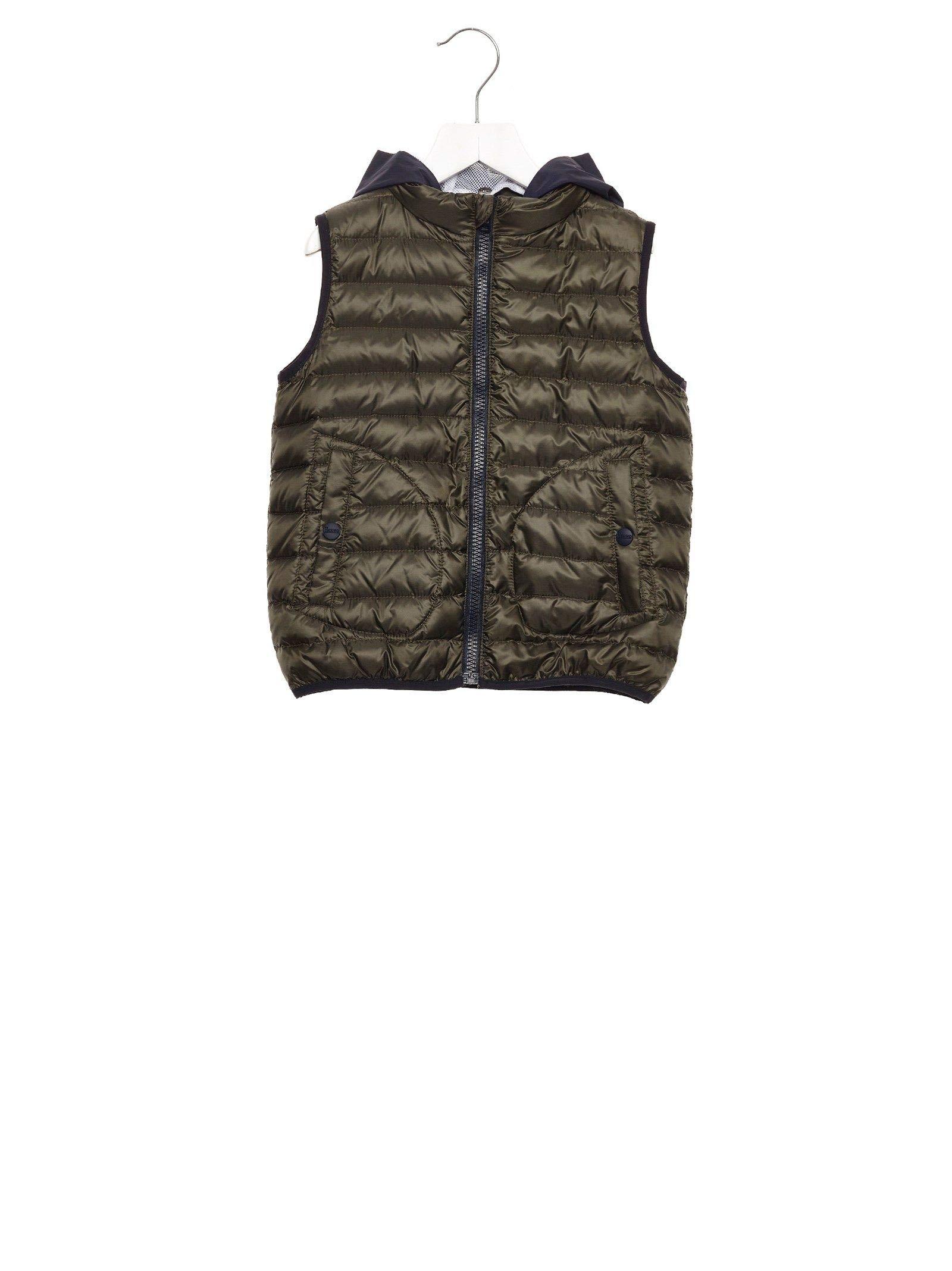 Herno Luxury Fashion Boys PI0042B120207400 Green Vest   Fall Winter 19 by Herno
