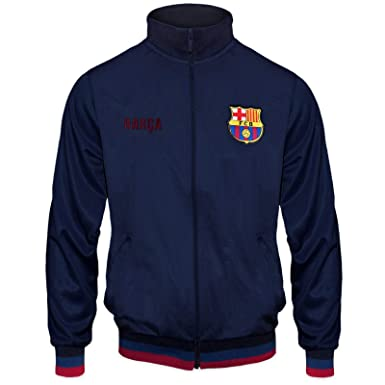 Fc Barcelona Herren Trainingsjacke Im Retro Design Geschenk Fur Fussballfans