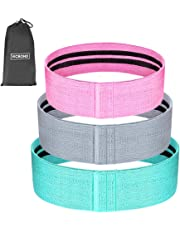 VICBOND Resistance Bands Loop,Fabric Hip Band Best 3 Set Pack - 3 Resistance Level, Non Slip Resistance Training Belt for Leg & Arms, Hips & Glutes Exercises, Squats