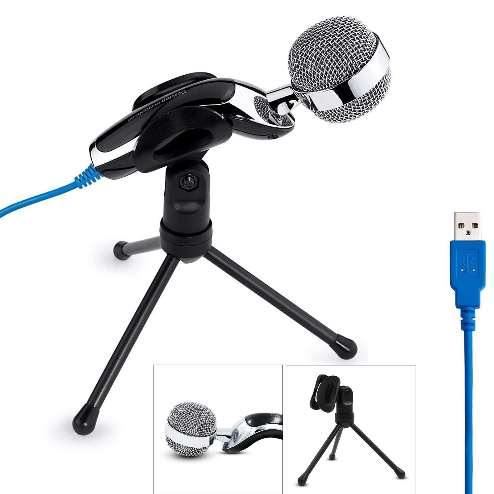 Micrófono USB Plug Play Home Studio Micrófono de condensador USB para PC Computadora portátil de escritorio Grabación id