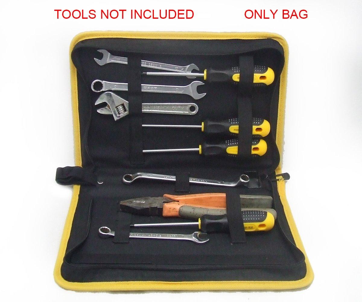 etc, para Destornilladores No Incluye herramientas Alicates BAG01M Estuche para Herramientas Hecho de Nylon 26.5 x 15.5 x 6 cm Llave inglesa Funda para Herramientas con Cremallera