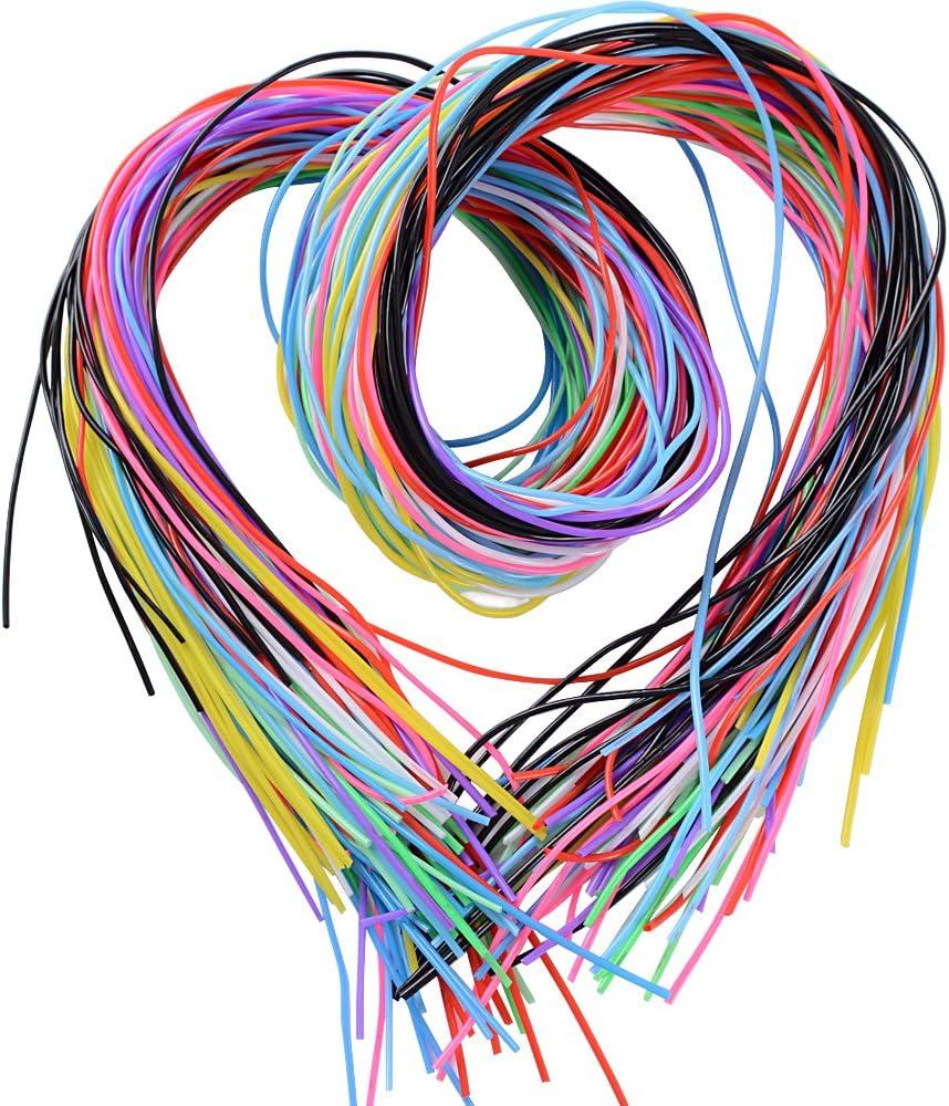 BUONDAC 100m Cuerda Hilo Scoubidou Cordón Plástico para Collar Pulseras Abalorios Manualidades DIY, 10 Colores