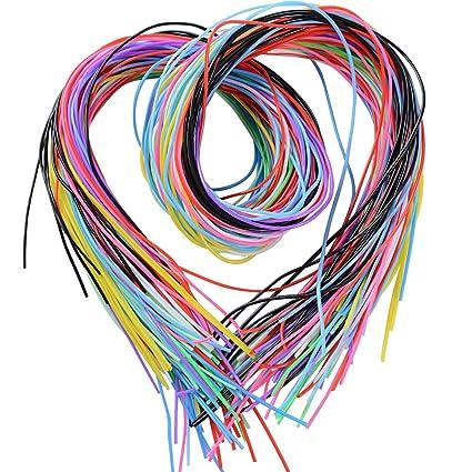 cbc0f6424 BUONDAC 100m Cuerda Hilo Scoubidou Cordón Plástico para Collar Pulseras  Abalorios Manualidades DIY, 10 Colores