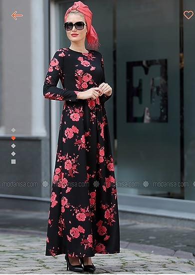 fa221421a307 MyBatua Islamic Women's Embroidered Burqa Eid & Party Wear Black & Gold  Abaya ...