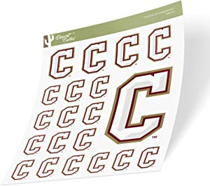 College of Charleston C of C Cougars NCAA Sticker Vinyl Decal Laptop Water Bottle Car Scrapbook (Sheet Type 3-1)
