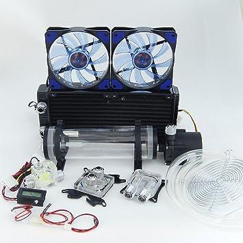 amazon h nicholas diy water cooling kit cpu gpu 240 360 radiato