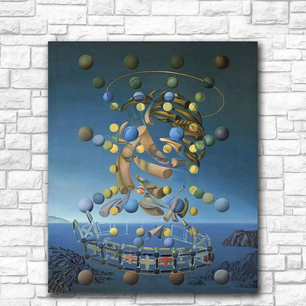 YHZSML Salvador Dali Galatea de Las esferas Pintura al óleo Arte de la Pared Pinturas Cuadro Paiting Lienzo Pinturas Decoración del hogar Impresión Pintura 50X60CM