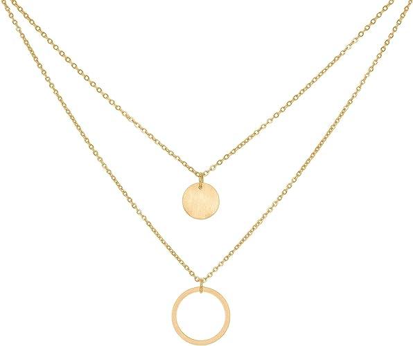 | Confezione Regalo Inclusa Oro e Rosa a little something /® Collana Venice Collana Donna placcata Oro 18 carati